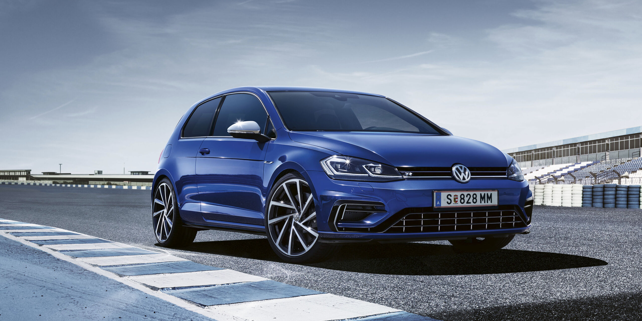 vw golf r albastru lapiz blue