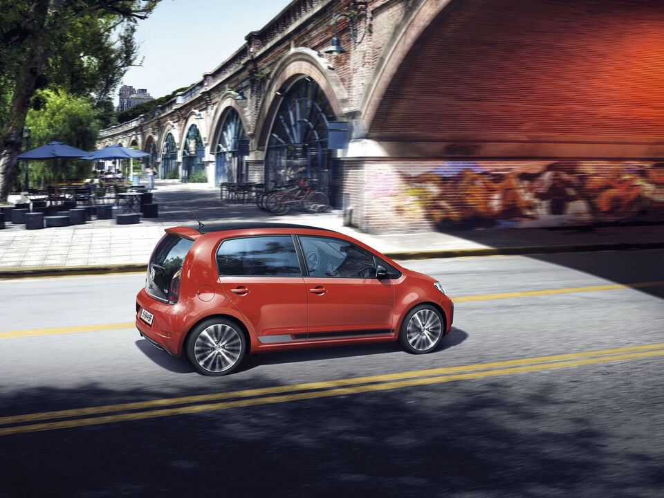 vw volkswagen up orange profil