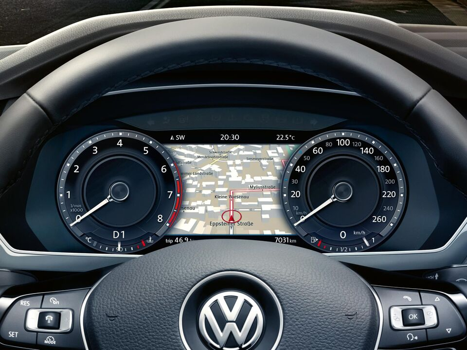 vw volkswagen tiguan active info display
