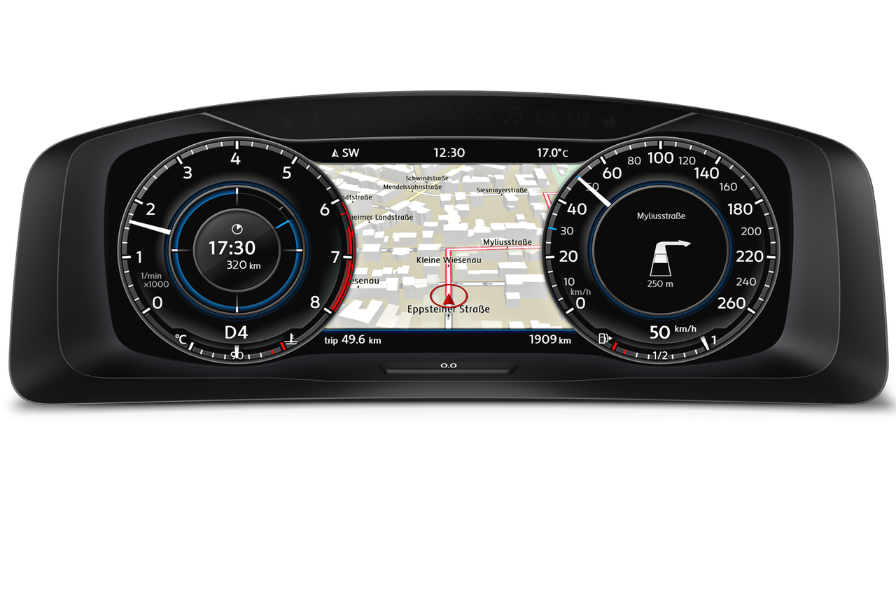 VW Golf Variant bord Active Info Display