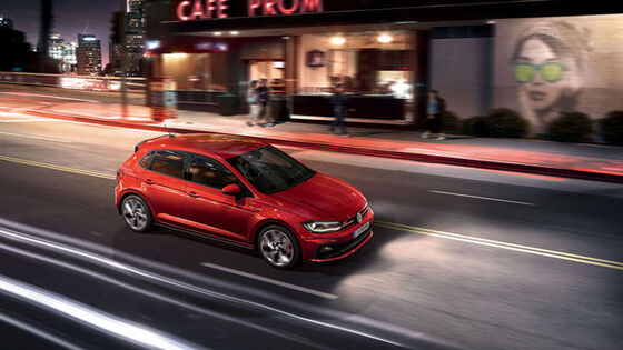 vw volkswagen polo gti roşu lateral